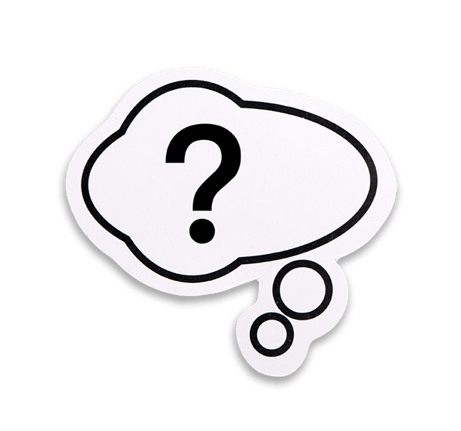 question-mark in a thought bubble