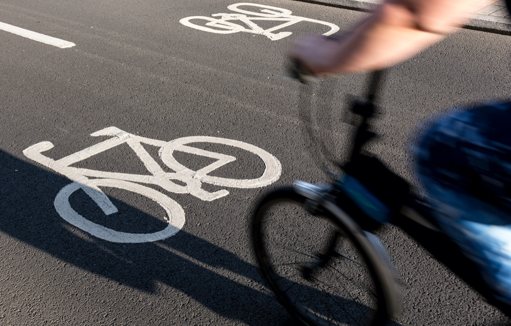 bike on the road